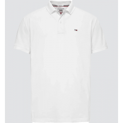 Polo Tommy Jeans blanc